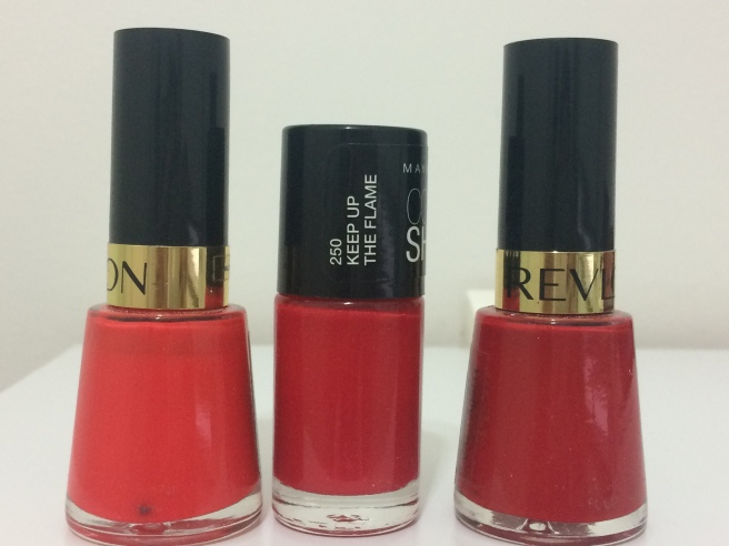 Esmaltes vermelhos